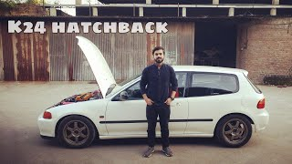 Civic 1995 hatchback with 2400cc engine uff / first vlog task