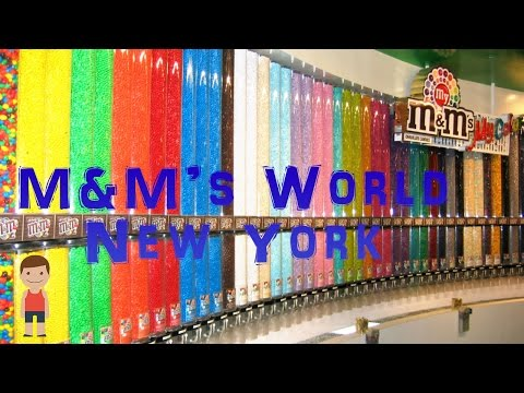 M&M's World in New York City (a lot of candy)