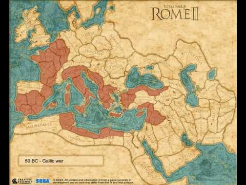 Rome 2 Map Roman expansion using Total War: Rome 2 campaign map   YouTube Rome 2 Map