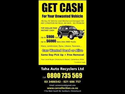 Cash For Cars Auckland Christchurch Wellington | Car Wreckers | Car Removal NZ