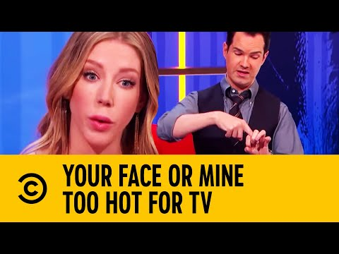 Katherine Ryan & Jimmy Carr's Top 5 Most Awkward Your Face Or Mine Questions | Too Hot For TV