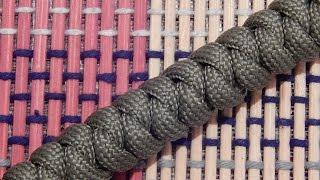 Плетение из Паракорда - Браслет плетение змейка / How to Make a Snake Knot Paracord Bracelet
