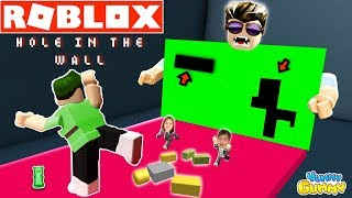 HOLE IN THE WALL ROBLOX Fun Family Gaming Challenge - YG Gaming