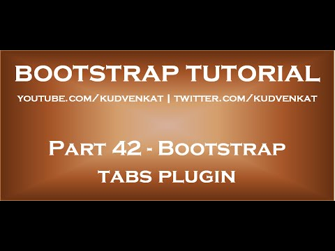 Bootstrap tabs plugin