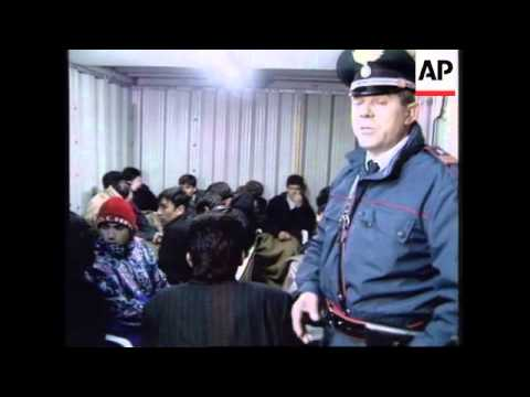 ITALY: POLICE DETAIN 48 ILLEGAL IMMIGRANTS