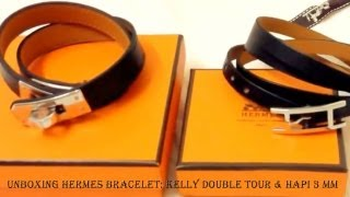 Unboxing Hermes Bracelet Kelly Double Tour & Hapi 3 MM(, 2013-09-18T15:45:52.000Z)