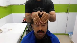 Great Head Massage with Neck Cracking - ASMR no talking