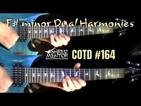 F# minor Dual Harmonies | ShredMentor Challenge of the Day #164