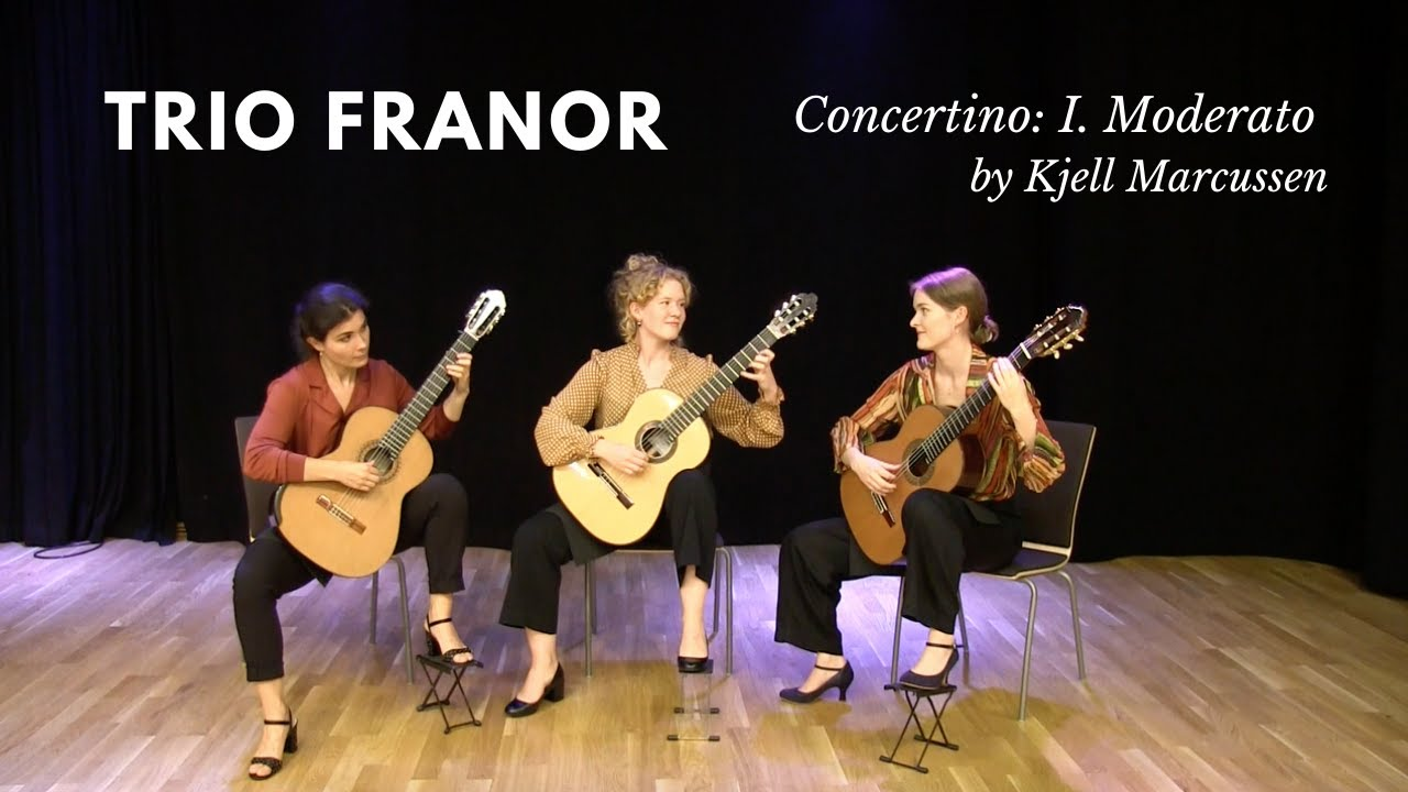 Trio Franor plays Concertino I. Moderato by Kjell Marcussen