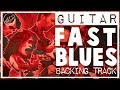 Fast Blues Backing Track in A