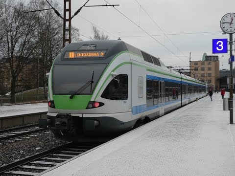 Finland: Trains at  Helsinki Station