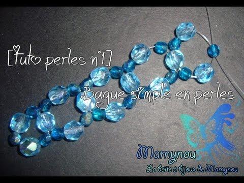 tuto perles n°1] bague simple en perles - youtube