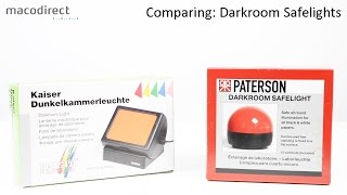 Comparing Different Darkroom Safelights