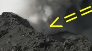 Aparece extraña criatura en crater del Volcan Calbuco 2015