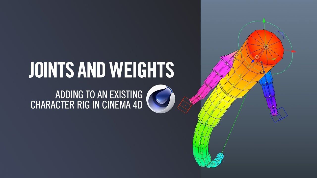 Cinema 4D | Adding Joints and Weights to an Existing Rig - Lesterbanks