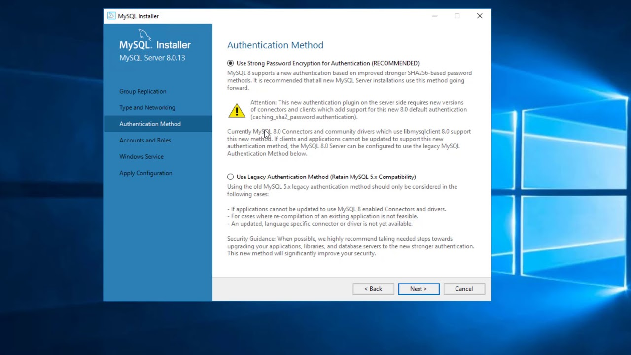 Download Install & Configure MySQL 8 on Windows 10 or Server 2016