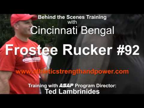 Cincinnati Bengal Frostee Rucker in Training at ASAP The Workout