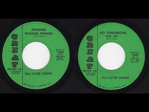 Clyde Owens - Great 1040 - Pitching Wishing Pennies -bw- No Tomorrows For Me