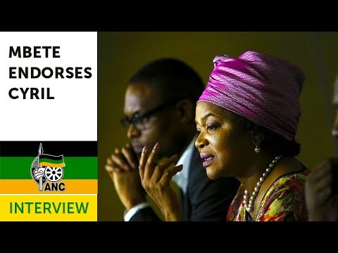 Baleka Mbete Supports Cyril Ramaphosa for ANC president (Interview)