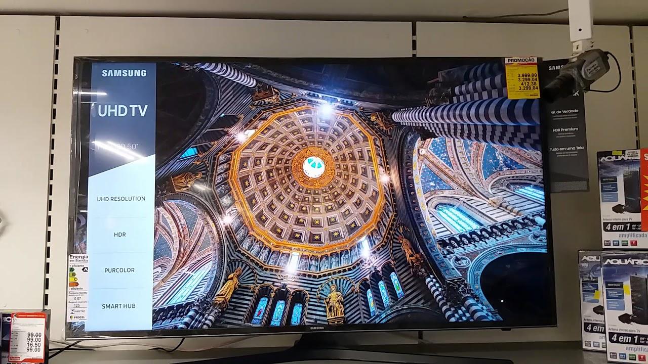 89b9db54b Tv Samsung 50MU6100 4K UHD lança 2017..... - YouTube