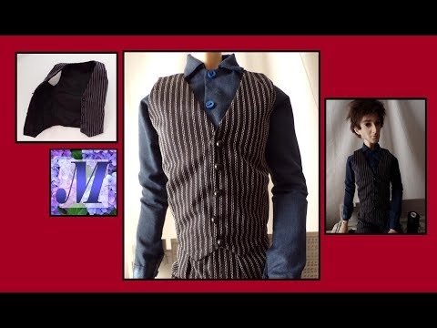 Drafting & Sewing a Lined Vest for Male BJD 70cm