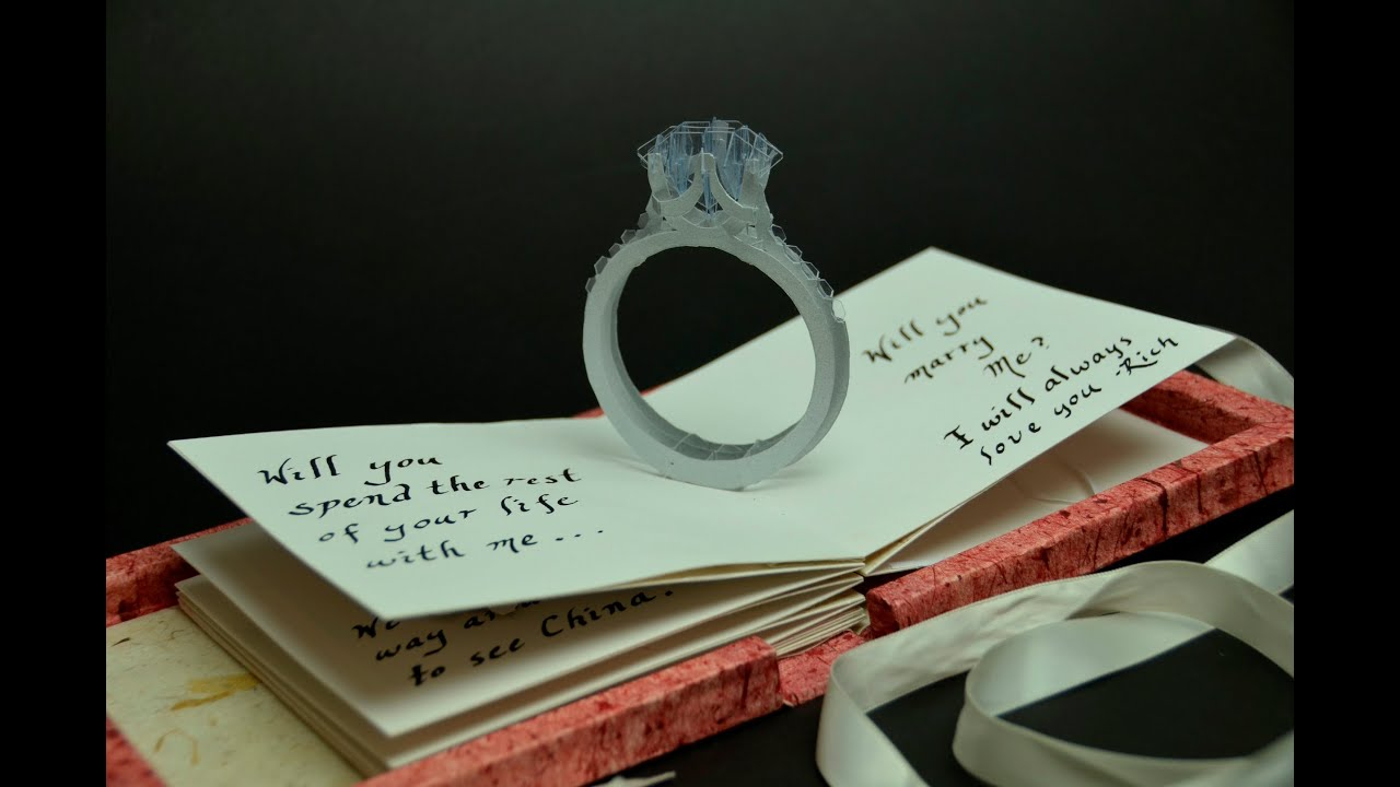 Pop Up Proposal Card - YouTube