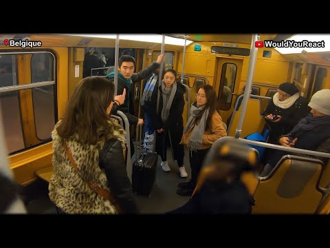 Video captures Brussels metro passengers speaking out against discrimination over COVID-19