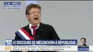 Suivez le discours de Jean-Luc Mélenchon sur BFMTV