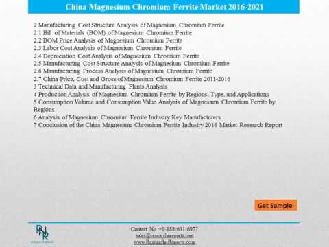 China Magnesium Chromium Ferrite Industry 2016 Market Research Report