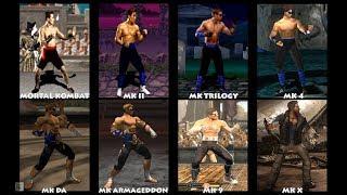 Mortal Kombat JOHNNY CAGE Graphic Evolution 1992-2015 | ARCADE PSX PS2 XBOX PC | PC ULTRA