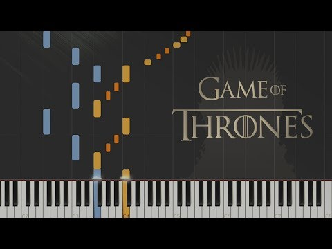 Game of Thrones - Main Theme  Synthesia Piano Tutorial