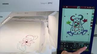 Viking EPIC 64 How to Size, Move, Rotate & Mirror Embroidery Designs