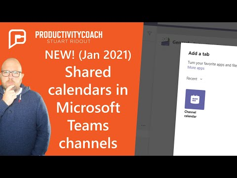New way to add shared calendars to Teams - Channel Calendars (2021)