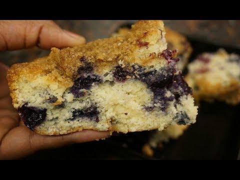 Late Nights: Blueberry Buckle | Blueberry Crumb Cake | Light ASMR