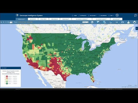 30 Years of Hispanic Population Growth presented by Geoscape.com