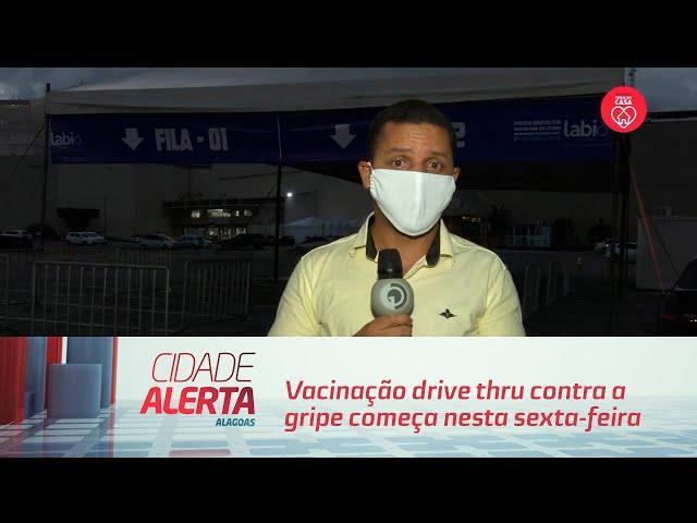 Vacinação drive thru contra a gripe começa nesta sexta-feira