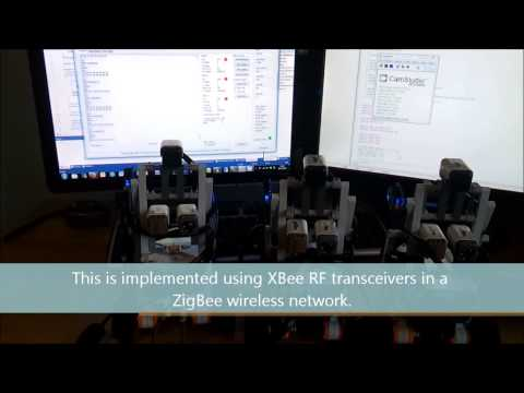 Sensor Fusion and Control Algorithms for a Multi Robot System