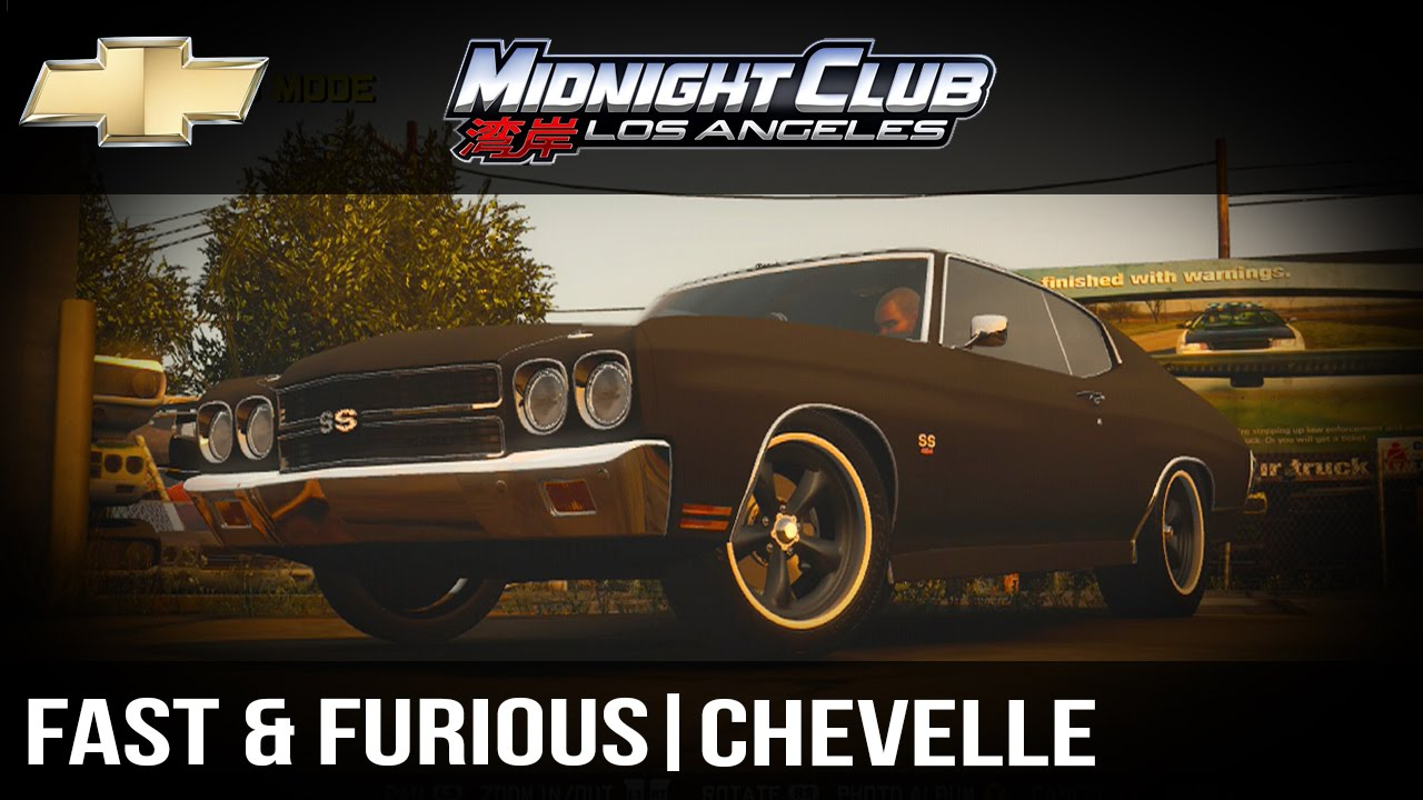 How to make full tutorial midnight club l a fast furious 4 chevelle
