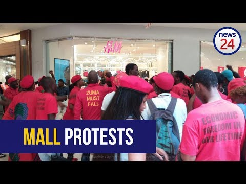 WATCH: EFF protest outside H&M, trash stores over 'racist advert'
