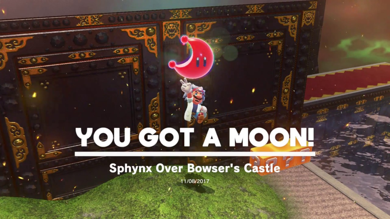 mario odyssey bowser kingdom moons