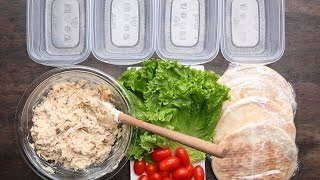 Healthy Meal-Prep Chicken Salad Pockets