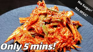 #30 How to make Healthy & Easy Kimchi   Only 5mins   막김치   Fresh & Fermented Kimchi  [Welcome_HOEM]