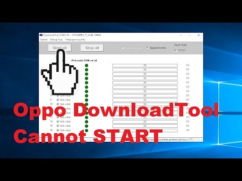 Fix Oppo Download Tool cannot START.