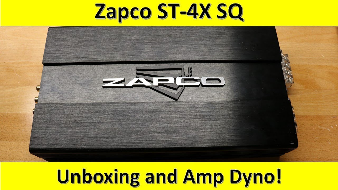 189 Budget Zapco St 4x Sq Amp Dyno And Unboxing