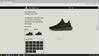 FEB 11TH YEEZY COP ONLINE MANUALLY