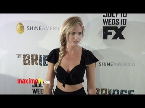 "Emily Wickersham ""The Bridge"" Premiere First Season ARRIVALS"