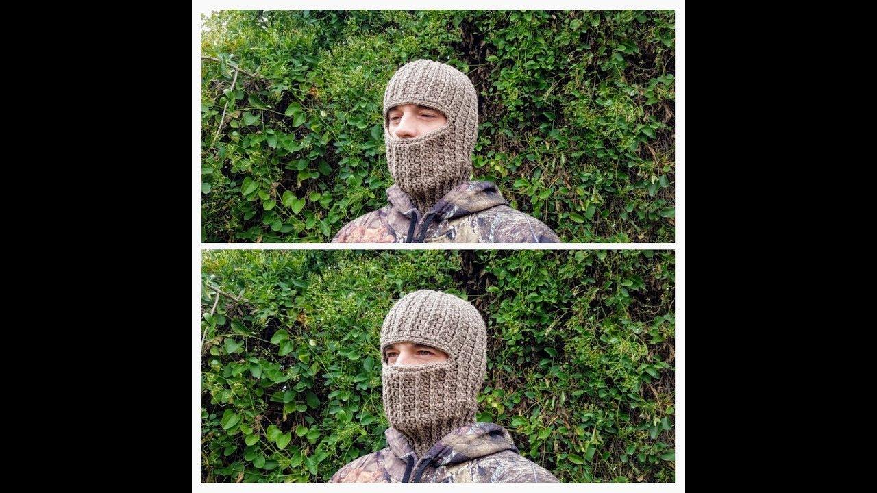 How To Crochet Ski Hunting Mask Unisex Ribbed Beanie Crochet Hat
