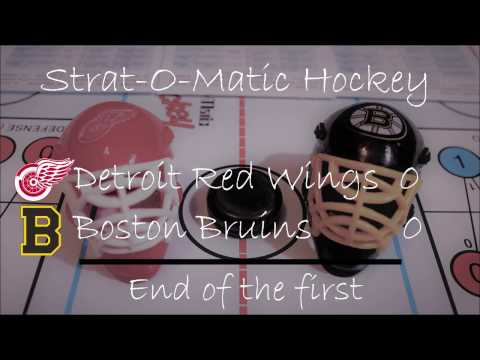 Strat-O-Matic Hockey: Boston Bruins vs Detroit Red Wings period 2