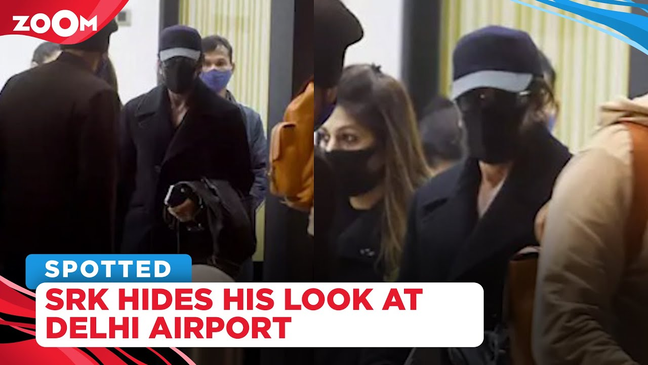 Shah Rukh Khan spotted at Delhi airport hiding his Pathan look in all-black avatar