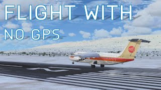 FSX Flying without Navigation | Anchorage to Homer Flight | 146-200